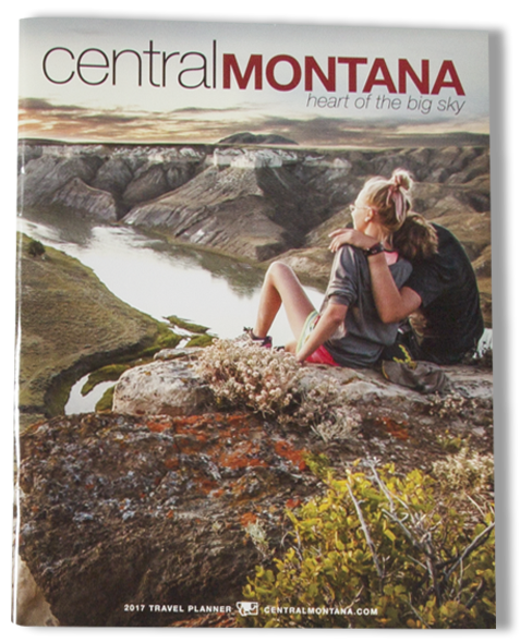 Central Montana Magazine Cover_Landscape Photo_Couple Enjoying View from Cliff