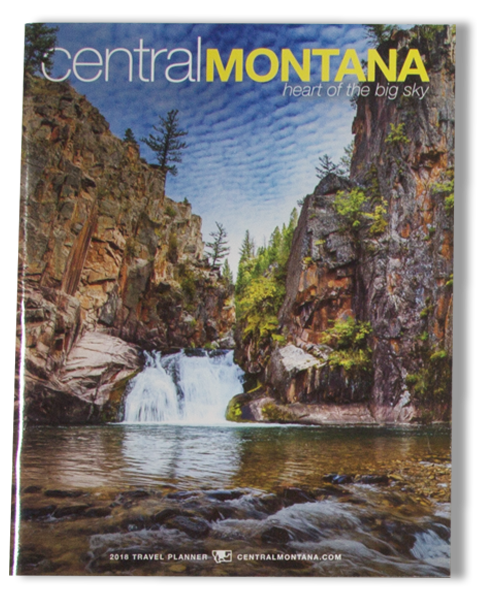 Central Montana Magazine Cover_Lancscape Photo_Cliffs with Waterfall