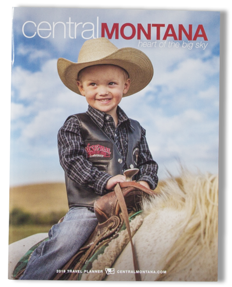 Central Montana Magazine Cover_Young Boy on Horse Wearing Cowboy Hat