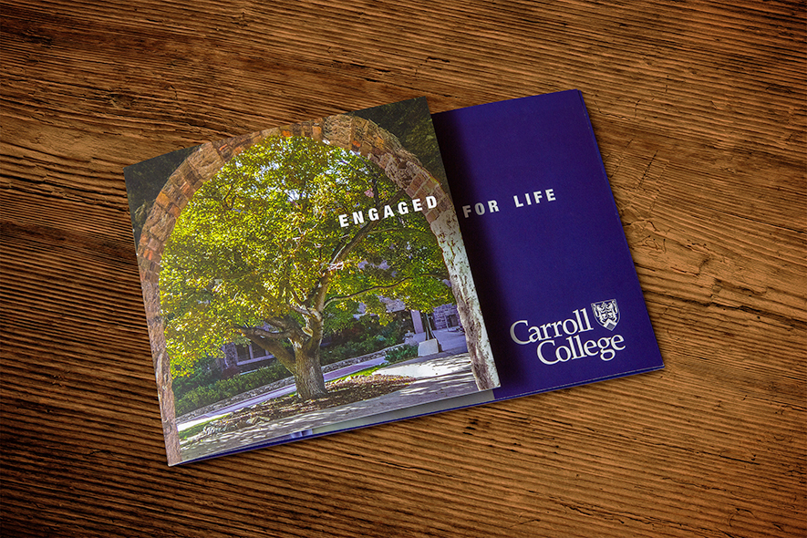 Carroll College Welcome Booklet Cover_Tree Under Archway