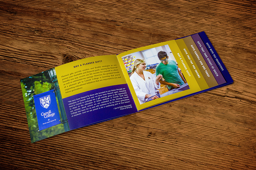 Carroll College Welcome Booklet_Layout Design
