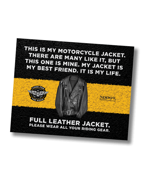 North Dakota Department of Human Services_Motorcycle Campaign_Full Leather Jacket